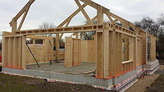 Prefab woning containerwoning bouwen met houtskeletbouw for Zelf woning bouwen prijzen