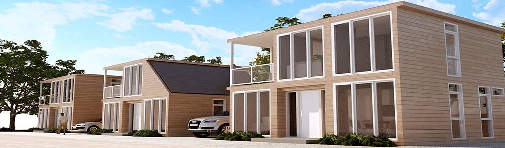 Cubes i betaalbare en stijlvolle prefab woningen for Huis bouwen prefab