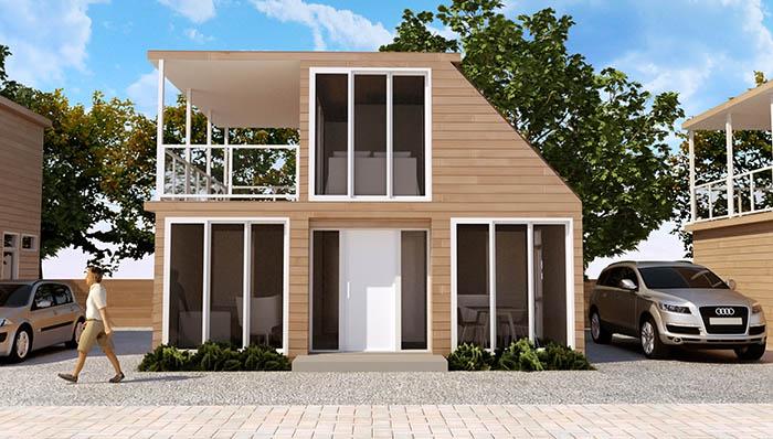 Woonhuis Cube - Red Cedar