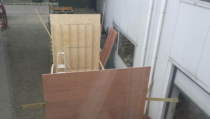 Aanbouw Cube - Fabriek