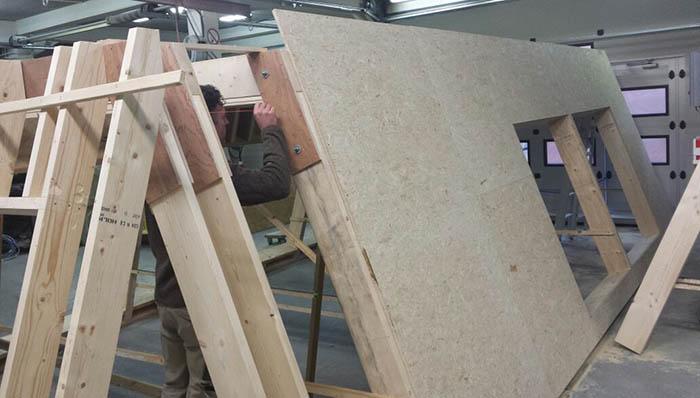 Aanbouw Cube - In productie in fabriek