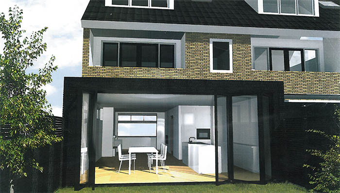 Prefab Keuken Aanbouw : Prefab aanbouw I Aanbouw Cube van staal en hout
