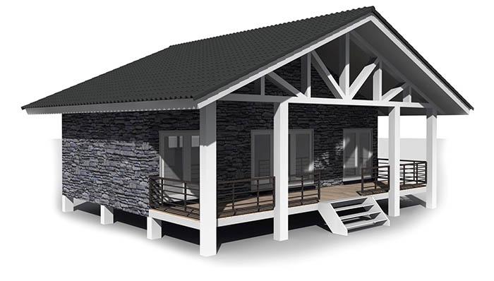 Woonhuis Cube - Combinatie containers en houtskeletbouw