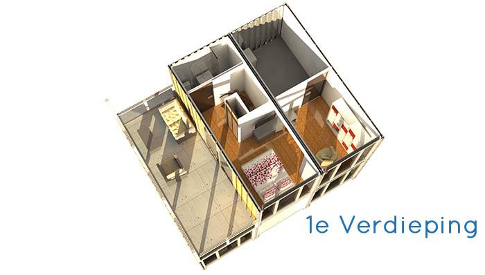 Woonhuis Cube - Eerste Verdieping