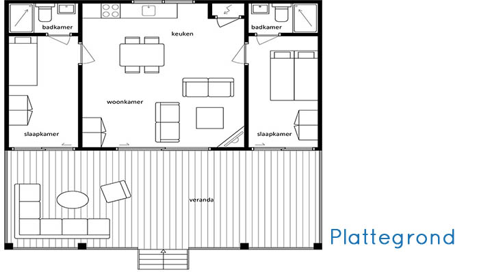 Woonhuis Cube - Plattegrond
