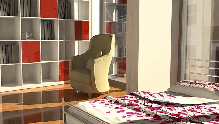 Woonhuis Cube -Slaapkamer