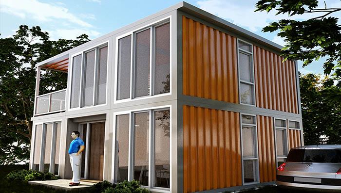 Woonhuis Cube - Stalen woningbouw